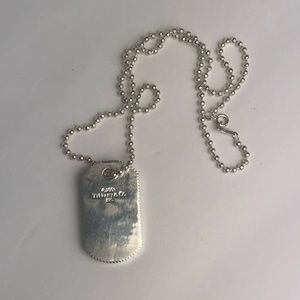 Tiffany & Co. dog tag sterling silver necklace